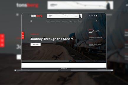 Tonsberg - Travel Blog Theme