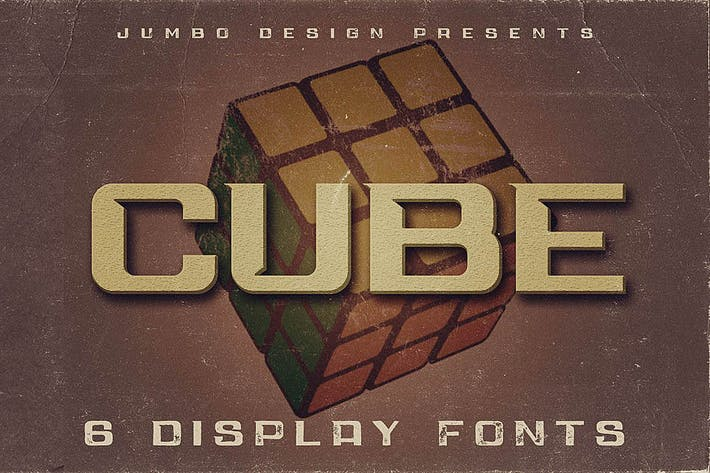 Thumbnail for Cube - Display Font