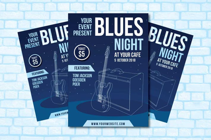 Thumbnail for Blues Night Flyer Template