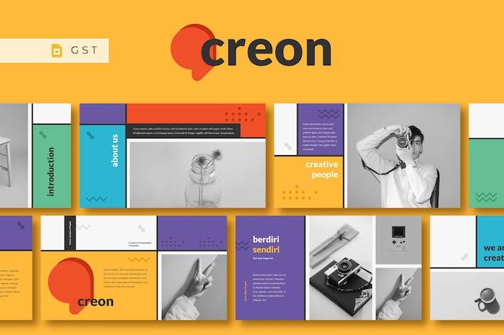 Thumbnail for CREON - Creative Google Slides Template