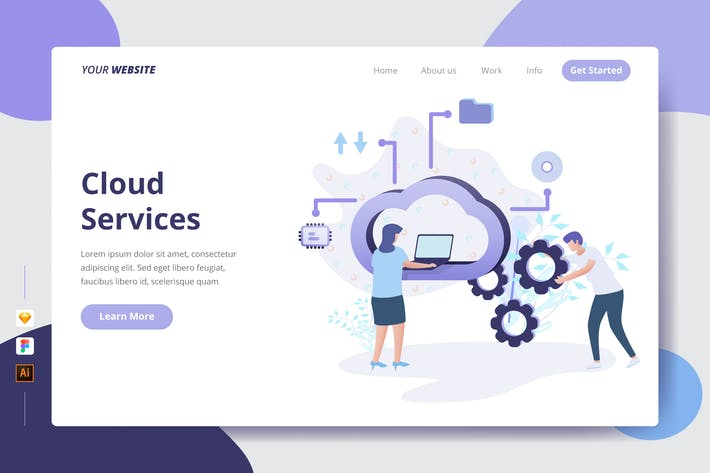 Thumbnail for Cloud Services - Landing Page