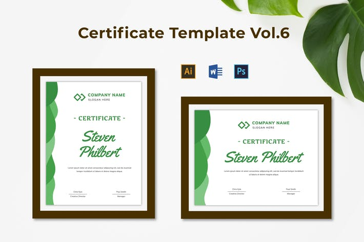 Thumbnail for Certificate Template Vol.6