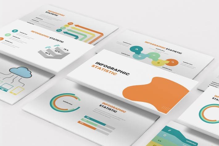 Thumbnail for Statistic Infographic Keynote Template