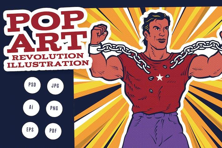 Pop Art Revolution Illustration
