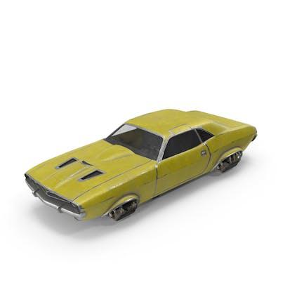 Fliegendes Auto Gelb