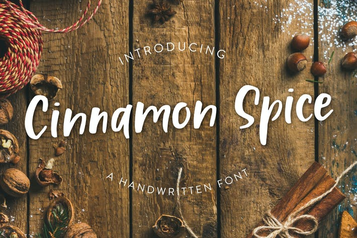 Cover Image For Cinnamon Spice - handwritten font