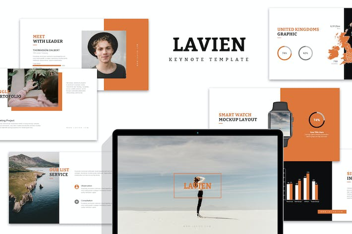 Thumbnail for Lavien : Clean Minimal Lookbook Keynote