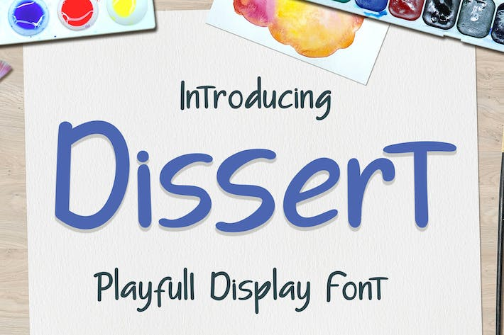 Thumbnail for Dissert Playfull Display Font