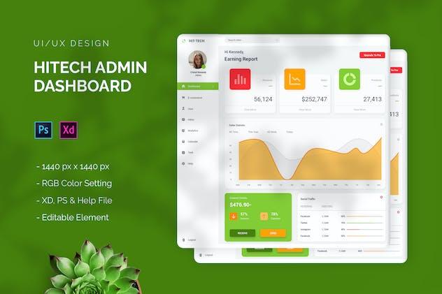 Hitech - Admin Dashboard