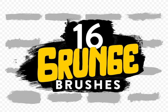 Thumbnail for 16 Grunge Brushes