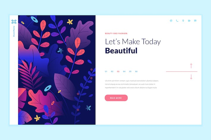 Thumbnail for Beauty Web Page Design Vorlage