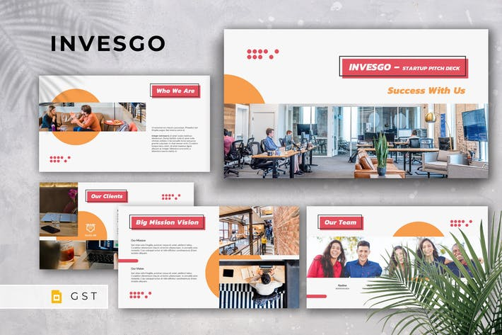 Thumbnail for INVESGO - Startup Pitch Deck Google Slides Templat