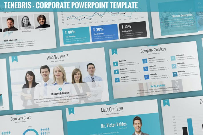 Thumbnail for Tenebris - Corporate Powerpoint Template