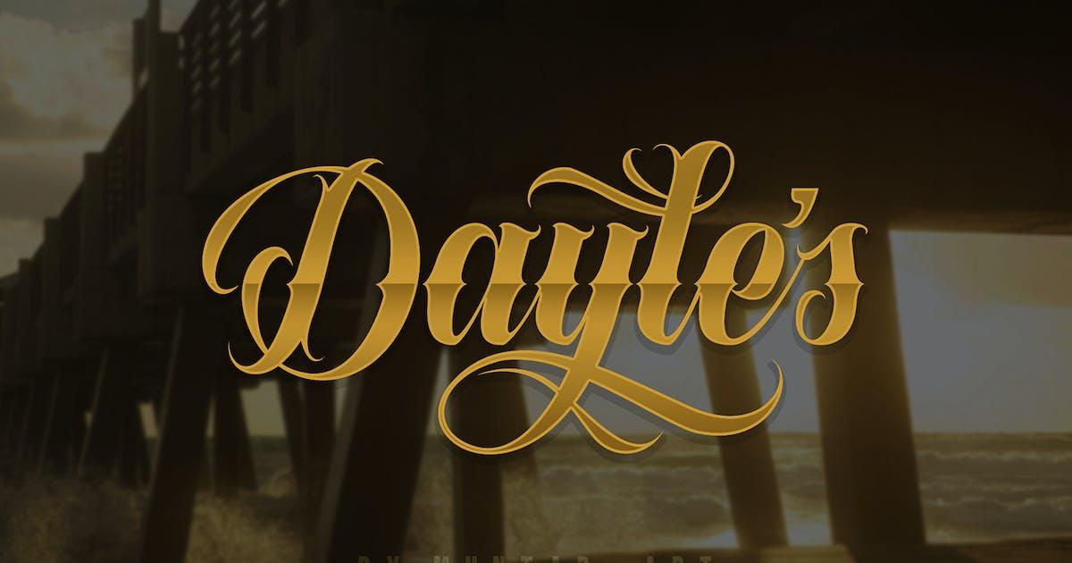 Download Dayles Script Fonts by Muntab_Art