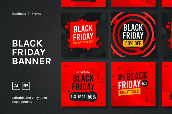 Thumbnail for Black Friday Sale Square Banner