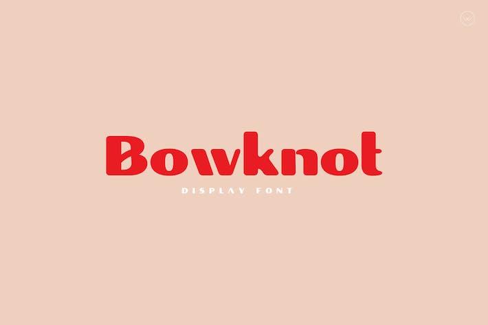 Police d'affichage unique Bowknot
