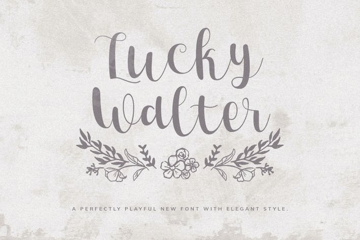 Thumbnail for Lucky Walter - Elegant Style Font!