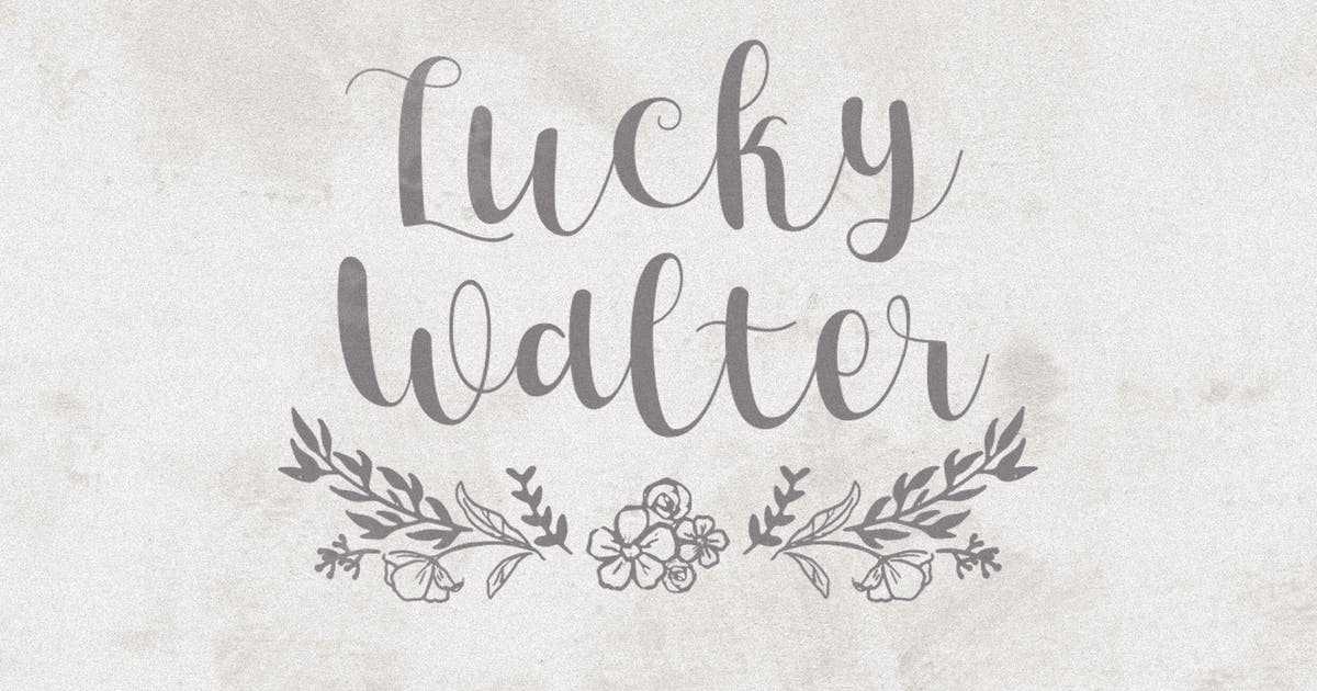 Download Lucky Walter - Elegant Style Font! by Sizimon-id