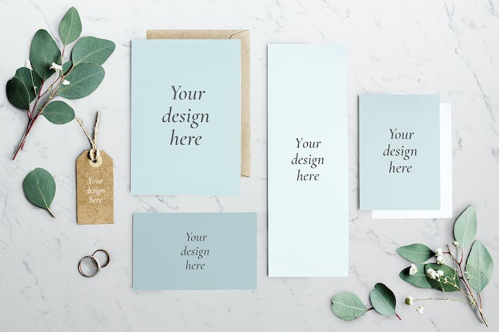 Cover Image For Wedding Invitation Mockup