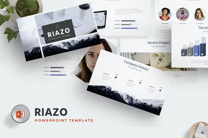 Thumbnail for Riazo - Powerpoint Template