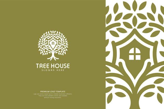 Tree House Logo Template