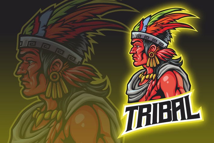 Thumbnail for Logo de l'esport du guerrier tribal