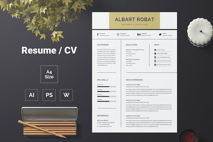 Thumbnail for Resume Template 65