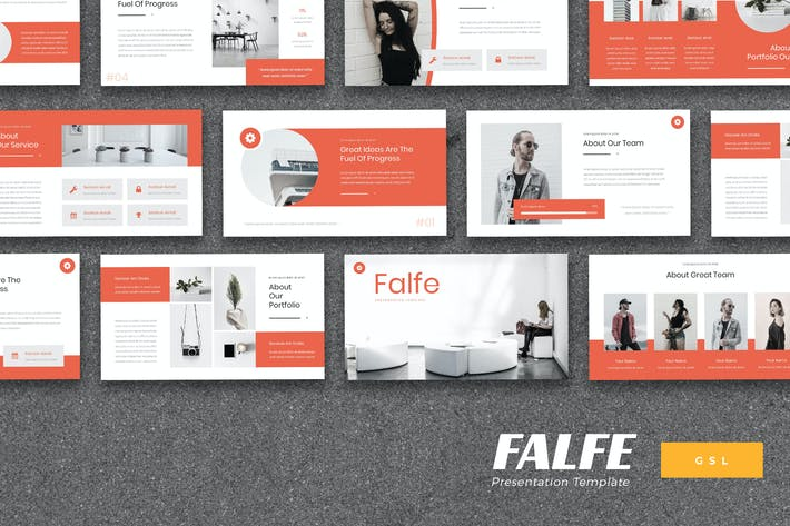 Thumbnail for Falfe - Creative Agentur Google Slides Vorlage