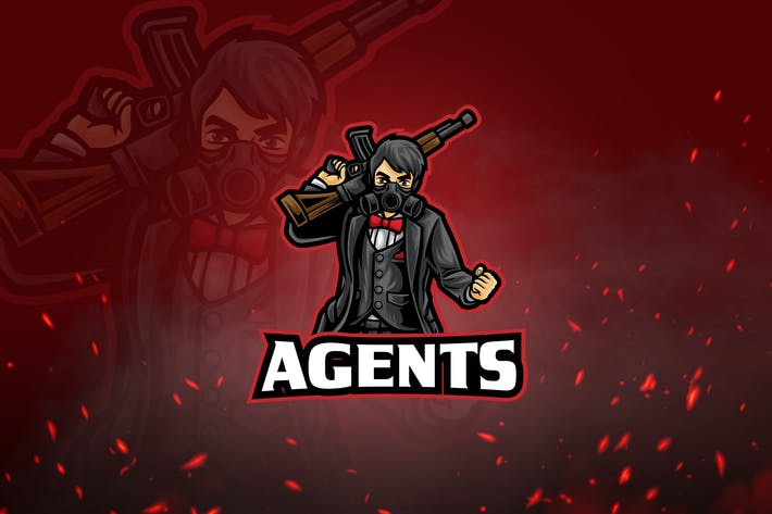 Thumbnail for Shooters Mascot & Esport Logo V6 - Agents