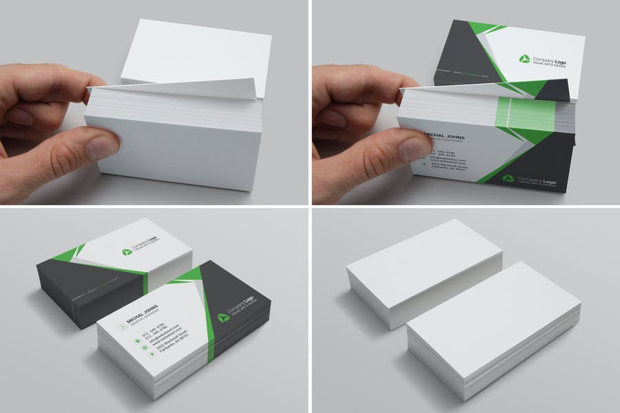 Realistic Business Card Mockups for US Size