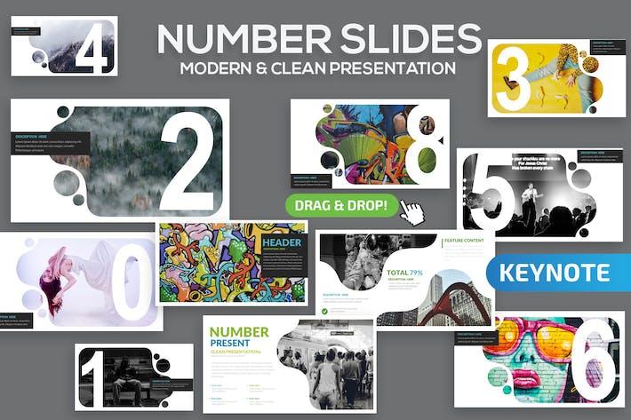 Количество слайдов Keynote