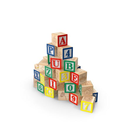Bloques de madera del alfabeto de bebé