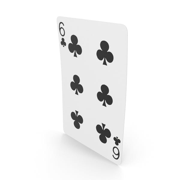 Playing Cards 6 of Clubs