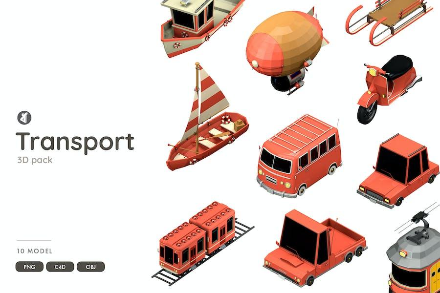 Transportation 3D-Objektpaket