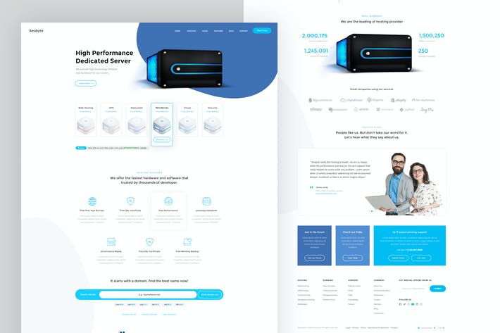 Thumbnail for Landing Page - Web Hosting #2