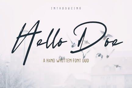 Hello Doe - Dúo de fuentes manuscritas