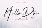 Hello Doe - Handwritten Font Duo