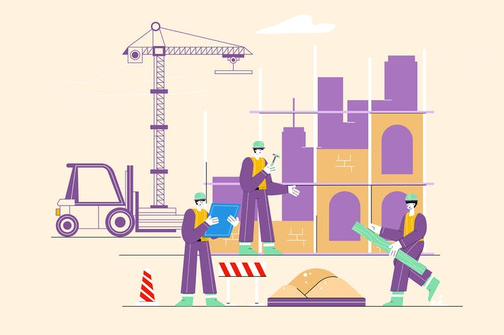 Thumbnail for Construction Worker Looking at Blueprints