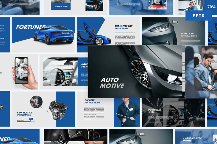 Thumbnail for Automotive - Powerpoint Template