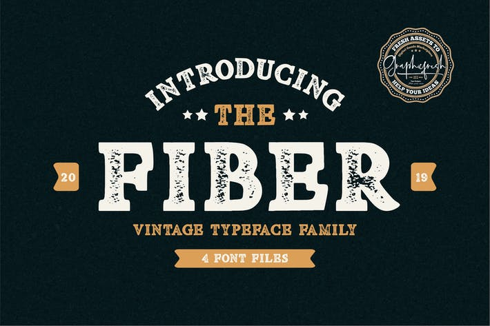 Thumbnail for Fiber - Vintage Serif Font