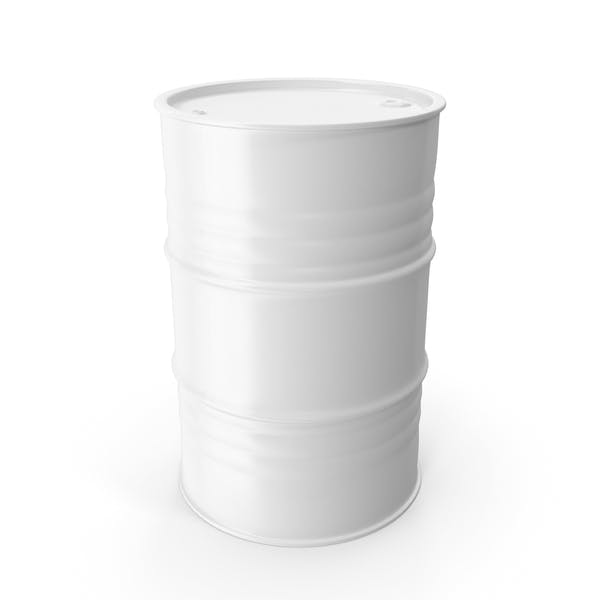 Barril de metal blanco limpio