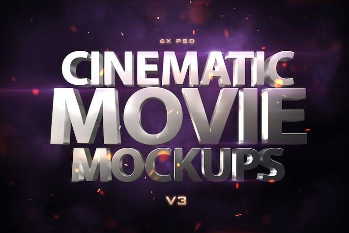 Cinematic 3D Movie Mockups V3