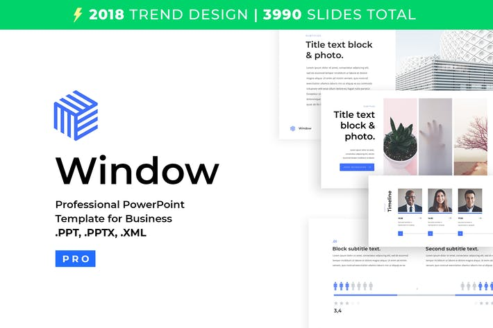 Thumbnail for Business PowerPoint Template 2018