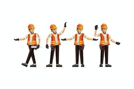 Bauingenieurwesen Zeichensatz Grafiken Vektor