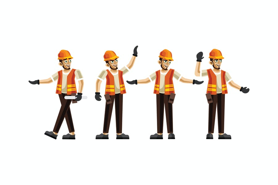 Civil Engineering Character Set Graphics Vector