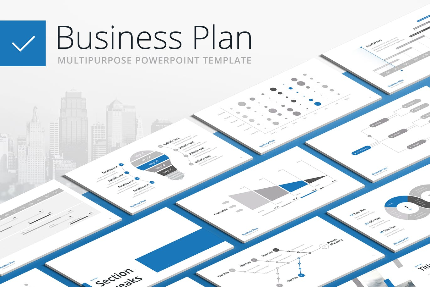Business Plan Multipurpose Powerpoint Template By Site2max On Each Of The Diagram Elements Is Created As A Envato