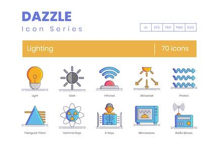 70 Lighting Icons - Dazzle Series
