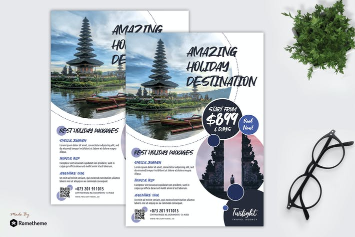 Thumbnail for Twilight - Travel Promotion Flyer Template RY