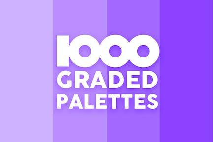 1000 Graded Palettes For Sketch