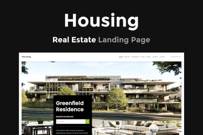 Cover Image For Housing - Real Estate Landing Page
